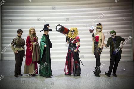 Isabel Stanton (Arya Stark),Milly Anderson (Cersei Lannister), Guilli Mens (Harry Potter),  Sian Hancock (Armoured hayley Quinn) Beth darville ( Bunny Harley Quinn), Ashley Baines (Joker)