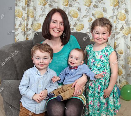 Michael Moloney with mother Michelle and siblings Lilly (4) and Patrick (2)