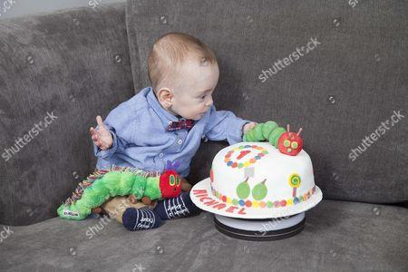 Michael Moloney with his birthday cake