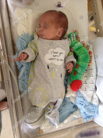 Michael Moloney as a premature baby in hospital 2/06/14