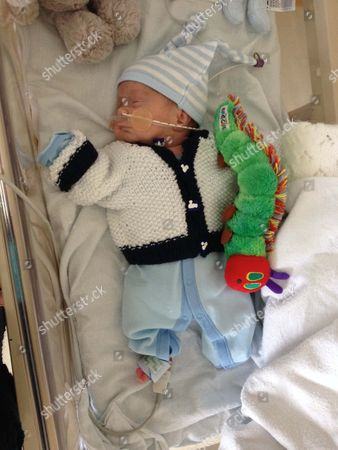 Michael Moloney as a premature baby in hospital 22/05/14