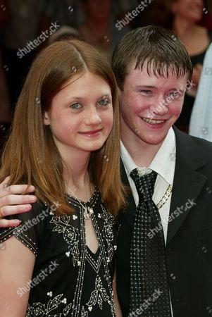 Bonnie Wright and Devon Murray