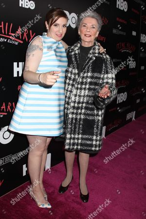Stock Picture of Lena Dunham and Betty Halbreich