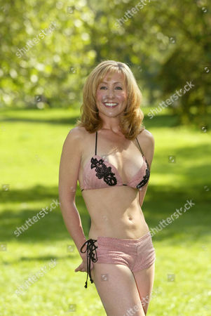 Susan Irby modelling a bikini made from salmon skin
