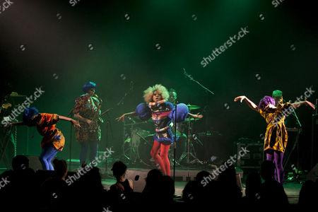 The British actress, songwriter and singer Ebony Thomas aka Ebony Bones live at the Suedpol venue, Lucerne, Switzerland
