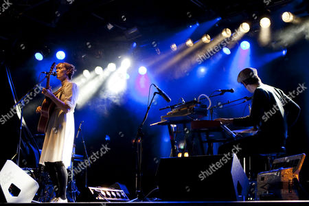 Stock Image of The U.S. singer-songwriter Laura Gibson live at the Schueuer concert hall, Lucerne, Switzerland