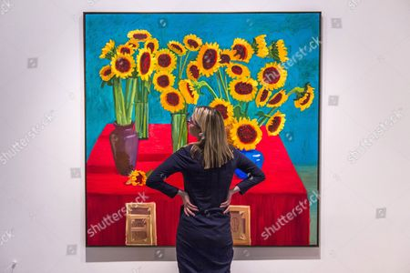 30 Sunflowers painting by David Hockney