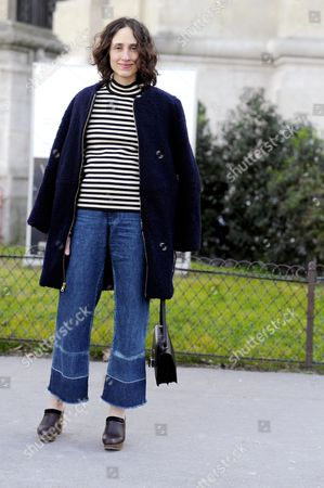 Stock Picture of Nicole Phelps after Chloé Paris RTW Fall-Winter PFW FW15, Street Style Fashion, on.avenue General Eisenhower.