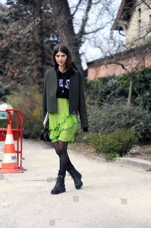 Editorial image of Street Style at Autumn Winter 2015, Paris Fashion Week, France - 11 Mar 2015