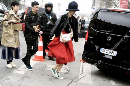 After Kenzo at Porte de la Vilette, Paris RTW Fall-Winter PFW FW15, Street Style Fashion.