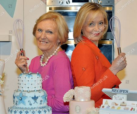 Cake International Show At Evencity Trafford Park Manchester. Mary Berry With Little Venice Cake Co. Founder Mich Turner (red) Launch The Show.  7/3/14.