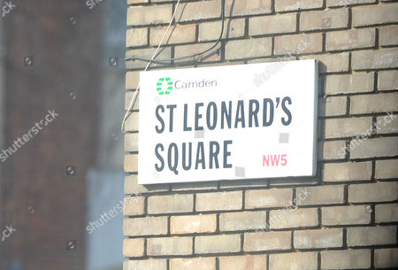 St Leonard's Square Where The House Of Monika Jakisic Is In Kentish Town North London. Monika Jakisic Has Been Linked To Prince Andrew. London  UK  03/10/2014.