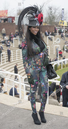 Lystra Adams From Stafford At The Cheltenham Festival On Ladies Day.