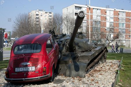A Monument To Mark The War In The Croatian City Of Osijek Where The Model Monika Jakisic Who Is Said To Be Dating Prince Andrew Lived Before Fleeing To The Uk With Her Family To Escape The War In 1991. See Sam Marsden/alison Boshoff Story.