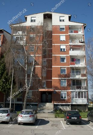 The Apartment In The Croatian City Of Osijek Where Model Monika Jakisic Who Is Said To Be Dating Prince Andrew Lived With Her Family Before Fleeing To The Uk To Escape The War In 1991. (fourth Balcony On Right From Top With Laundry) See Sam Marsden/alison Boshoff Story.