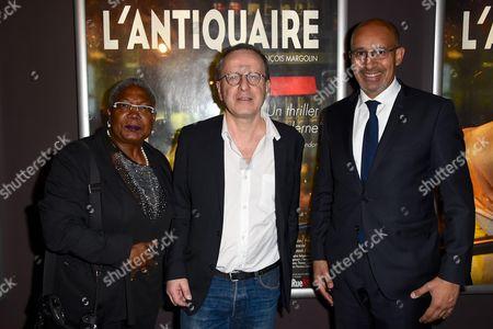 Firmine Richard, movie director Francois Margolin and Harlem Desir