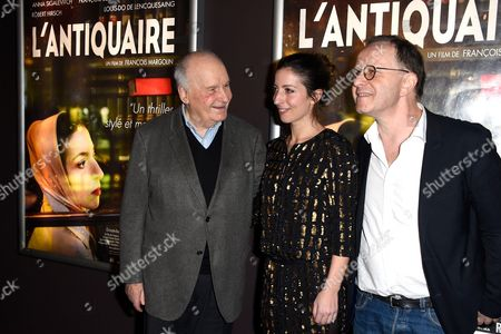 Michel Bouquet, Anna Sigalevitch and movie director Francois Margolin