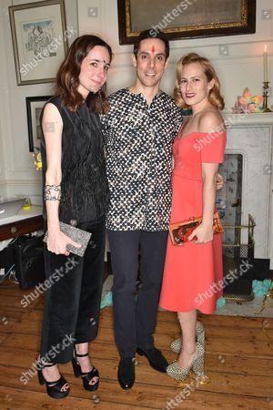 Serafina Sama, Maxim Crewe and Charlotte Dellal