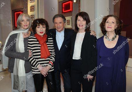 Edith Scob, Judith Magre, Michel Drucker, Genevieve Fontanel