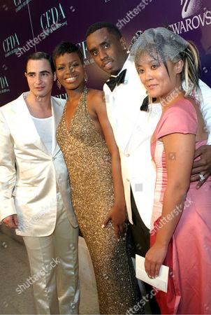 Zac Posen, Fantasia Barrino, Sean Combs and hat designer Eugenia Kim