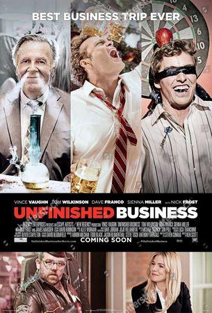 UNFINISHED BUSINESS, 2015. Poster.  Tom Wilkinson, Vince Vaughn, Dave Franco