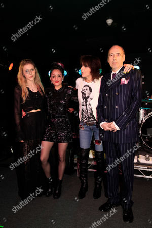 Eliza Garland, Zoe Devlin, Chrissie Hynde and Mick Jones