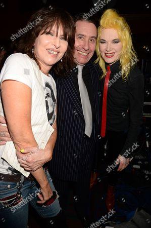 Chrissie Hynde, Jools Holland and Pam Hogg