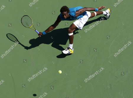 Gael Montfils, France, bird's-eye view, U.S. Open 2009, Grand Slam Tournament, USTA Billie Jean King National Tennis Center, New York, USA