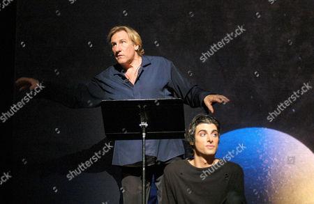 Stock Photo of GERARD DEPARDIEU AND MICHA LESCOT