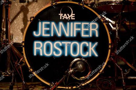 Logo, drums, Jennifer Rostock, German rock singer
