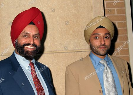 Vikram Chatwal with his father