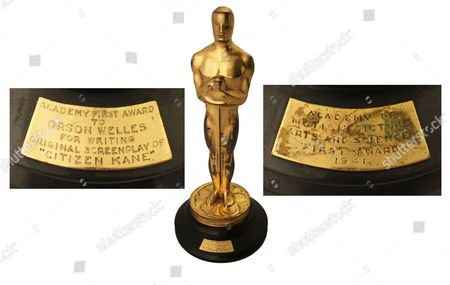 No 5: The Oscar won by Orson Welles for his directorial debut with Citizen Kane (1942) sold for $861,542