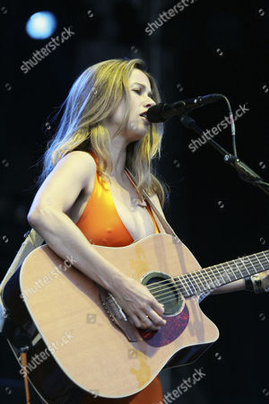 American singer-songwriter Heather Nova performing live at the Outside Festival in Dielsdorf, Zurich, Switzerland, Europe