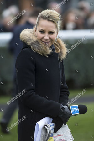 Chanel 4 racing presenter Emma Spencer.