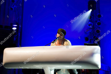 Canadian singer and songwriter Daniel Powter live at Blue Balls Festival in the Concert Hall of the KKL in Lucerne, Switzerland