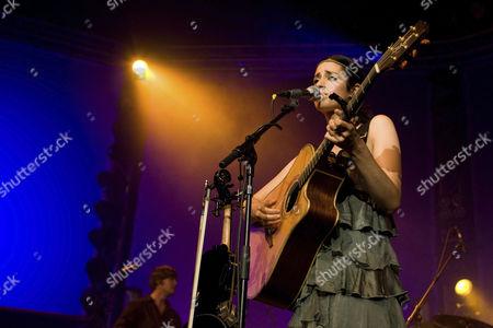 German singer and musician Graziella Schazad live at Blue Balls Festival in Lucerne hall of the KKL in Lucerne, Switzerland