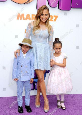 Jennifer Lopez and children Max Anthony and Emme Maribel Muniz