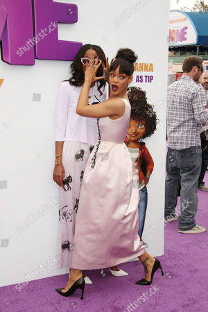 Stock Image of Melyssa Ford and Rihanna