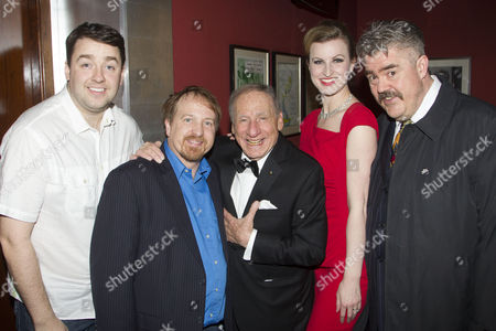 Jason Manford, Cory English, Mel Brooks, Tiffany Graves and Phill Jupitus