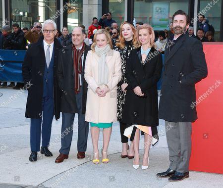 Cast of Mad Men - Elisabeth Moss, John Slattery, Mathew Weiner, Christina Hendricks, January Jones, Jon Hamm