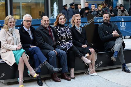 Stock Photo of Elisabeth Moss, John Slattery, Mathew Weiner, Christina Hendricks