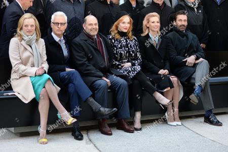 Stock Picture of Elisabeth Moss, John Slattery, Mathew Weiner, Christina Hendricks, Jon Hamm
