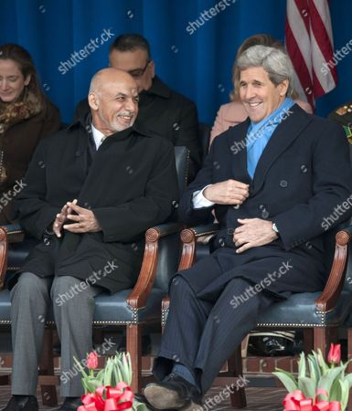 Ashraf Ghani and John Kerry