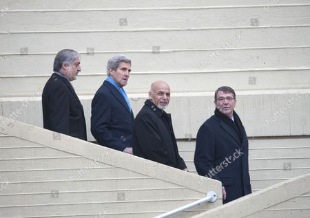 John Kerry, Ashraf Ghani and Ashton Carter