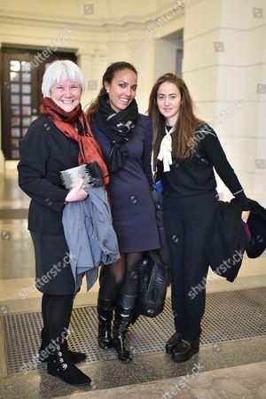 Sandra Edwards, Alia Al Senussi and Alessandra Modiano
