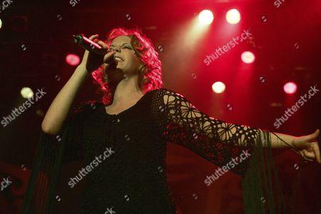 Stock Photo of LaFee, German pop singer, live at Club X-tra in Zurich, Switzerland
