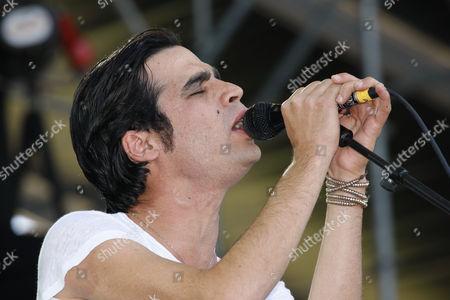 Aviv Geffen, pop musician from Israel, Open Air Festival, Muehldorf am Inn, Bavaria, Germany