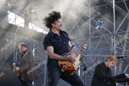 Eric Bazilian, The Hooters, American rock band, Open Air Festival, Muehldorf am Inn, Bavaria, Germany