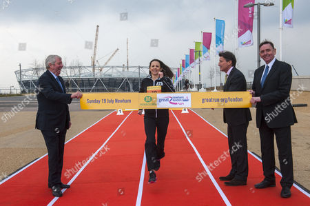 Stock Image of Brendan Foster, Jo Pavey, Lord Sebastian Coe and Sir Sir Robin Andrew Wales