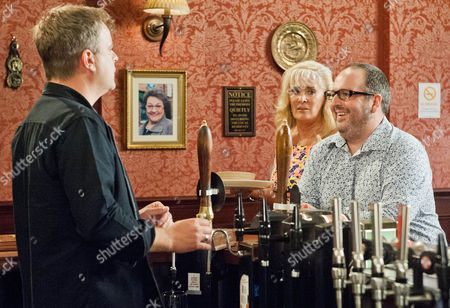 Michelle Connor [KYM MARSH]  assures Steve McDonald [SIMON GREGSON] that he has her blessing and should visit Peter in prison. Dean [JUSTIN MOORHOUSE] (landlord of the Flying Horse) comes into the Rovers and brags to Steve about how good business is in   his pub. When Steve then suggests they could hammer his pub team at cricket, Dean tells him another